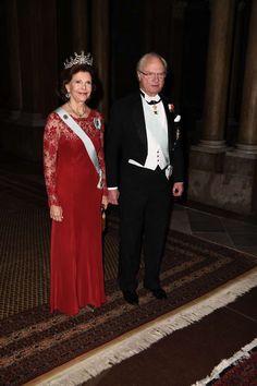 Kungens middag för Nobelpristagarna, på Kungliga slottet. 2016
