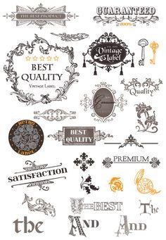 大人かわいいレトロ&ヴィンテージの飾り枠・飾り罫・ページ飾り(1)