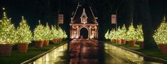 Biltmore estate entrance at Christmas