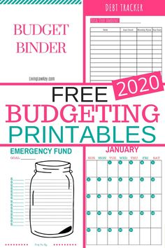 Nov 2019 - Start saving money and paying off debt with this FREE Budget Binder. Taking control of your finances has never been so easy. Get the 2019 Budget Binder Today! Excel Budget, Budget Spreadsheet, Budget Binder, Free Budget Planner, Money Planner, Easy Budget, Budget Book, Budgeting Finances, Budgeting Tips