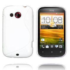 Solid S-Line (Hvit) HTC Desire C Deksel
