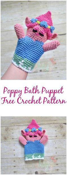 Poppy Bath Puppet, Free Crochet Pattern!