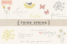 Think Spring Vector Art by Summit Avenue on Creative Market