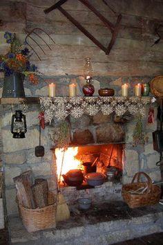 I love the deep, large fireplace!