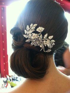 Side bun, Bridal updo , wedding hairstyles , www. Hairdo Wedding, Bridal Updo, Wedding Hair And Makeup, Hair Makeup, Party Hairstyles, Wedding Hairstyles, Hairstyle Ideas, Bridesmaid Hair, Prom Hair