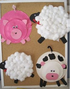 farm animal crafts for kids hot pins creative school crafts home workout equipment used Kids Crafts, Craft Activities For Kids, Toddler Crafts, Crafts To Do, Projects For Kids, Craft Projects, Craft Ideas, Farm Activities, Spanish Activities