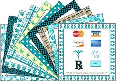 Teal Prints For OVARIAN Cancer Awareness - Grab Tabs (with preprinted images)