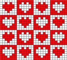 52 ideas for crochet heart filet knitting charts Tapestry Crochet Patterns, Loom Patterns, Stitch Patterns, Crochet Diagram, Crochet Chart, Crochet Stitches, Knitting Charts, Knitting Patterns, Pixel Crochet