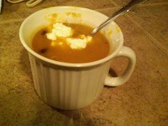 Dave's wife, Emilie, says this butternut squash soup is easy and good!