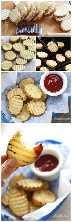Grilled Potatoes (So simple and easy... and yet, I've never done it or thought about doing it! Definitely adding this to the menu this summer...)