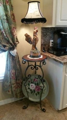My new antque lamp from my sweet daughter Gayln!!!!!!  Love it!!!!!!!!