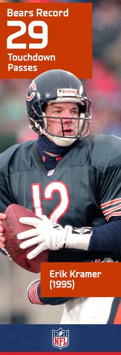 In addition to holding the Chicago Bears record of 29 passing touchdowns in 1995, Erik Kramer also owns the club's record for single-season passing yards.
