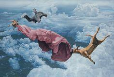 Sublime Cataclysmic Surrealism by Australian Artist Joel Rea Surreal Artwork, Surreal Photos, Amazing Paintings, Oil Paintings, Realistic Paintings, Amazing Art, Surrealism Painting, Modern Surrealism, Photorealism