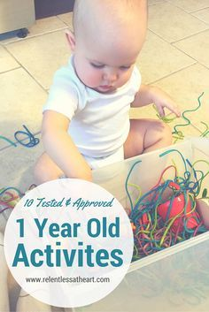 These 10 activities are tested and approved by my 1 year old! They are perfect for early 1 year old ages and up from there. They are hands on, interactive, and great for development! Come on over to my blog and check it out