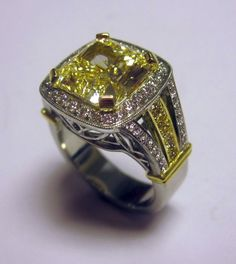 Fancy Yellow Diamond Ring by Dalzell Jewelers