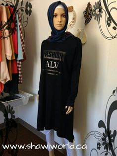 Navy Long Sleeve Design Tunic | www.shawlworld.ca  #LdnOnt #ForestCity #YXU #Ontario #Canada #UWO #WesternU #2015 #Scarf #Shawl #boutique #Canadian #Muslim #Women #clothing #scarves #hijab #shopping #fashion #canadianstyle #currentlywearing #whatiwore #fashionblogger #shopping #gta #mothersday #summer #may