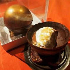 Chocolate Sphere with Chocolate Mousse