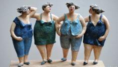 Frauenfiguren in Keramik – Kunst und Bilder Female figures in ceramics – art and pictures Paper Mache Clay, Paper Mache Sculpture, Sculptures Céramiques, Art Sculpture, Pottery Sculpture, Clay Art, Sculpture Ideas, Abstract Sculpture, Bronze Sculpture
