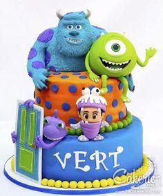 Monsters Inc. - Cake by The Cakerie Cebu Monsters Inc. - Cake by The Cakerie Cebu Monster University Cakes, Monster University Birthday, Monster Inc Cakes, Monster Birthday Cakes, Monster 1st Birthdays, Monster Inc Party, Monster Birthday Parties, Birthday Cupcakes, Birthday Ideas