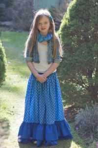 Glorias Tween Maxi Skirt PDF Sewing Pattern by Create Kids Couture