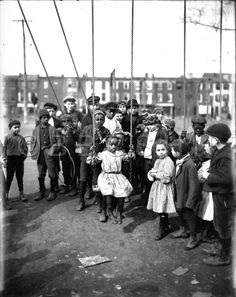 Group of Children Around Swings. Starr Centre Association of Philadelphia. Image courtesy of the Barbara Bates Center for the Study of the History of Nursing.