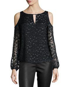 Morgan Cold-Shoulder Top, Black by Cooper & Ella at Neiman Marcus.
