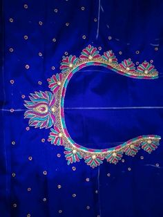praba -Maggam Work Blouse Designs New Simple What You Need In Motorcycle Sunglasses Article Body: An Cutwork Blouse Designs, Kids Blouse Designs, Embroidery Neck Designs, Simple Blouse Designs, Stylish Blouse Design, Bridal Blouse Designs, Pattu Saree Blouse Designs, Aari Embroidery, Mirror Work Blouse Design