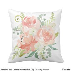 Peaches and Cream Watercolor Floral