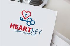 Heart Key Logo Templates **About Logo Template Download**---A fully editable and resizable vector logoHorizontal and vert by Creative Dezing