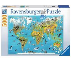 Educa 16301 world map jigsaw puzzle 1500 pieces educa httpwww ravensburger pusle pnev maailm 5000tk 174287 juku keskus puzzlesmaps of the worldanimals gumiabroncs Images