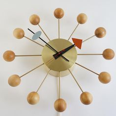 Vintage George Nelson Ball Wall Clock Howard by AtomicMartini