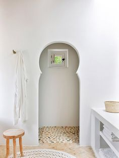 bathroom archway