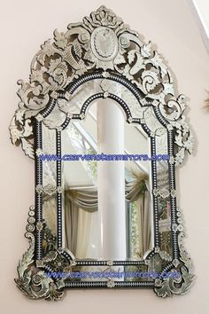 Ornate antique Venetian mirror for above the fireplace I Love Mirrors, Old Mirrors, Ornate Mirror, Vintage Mirrors, Beautiful Mirrors, Beautiful Homes, Mirror Mirror, Huge Mirror, French Mirror