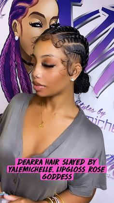 Braided Cornrow Hairstyles, Big Box Braids Hairstyles, Hair Ponytail Styles, Braids Hairstyles Pictures, Black Girl Braided Hairstyles, Dope Hairstyles, African Braids Hairstyles, Cornrow Braid Styles, Goddess Hairstyles