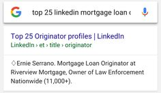 I'm in the Top 25 LinkedIn Mortgage Loan Originators! :) I'm a Senior Mortgage Loan Originator who is a lender and a broker. I have the best of both worlds! Call me at: 808-271-1503  No Origination Points No Underwriting Fees No processing Fees