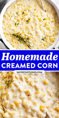 Homemade Creamed Corn Recipe (from Scratch!) | Savory Nothings