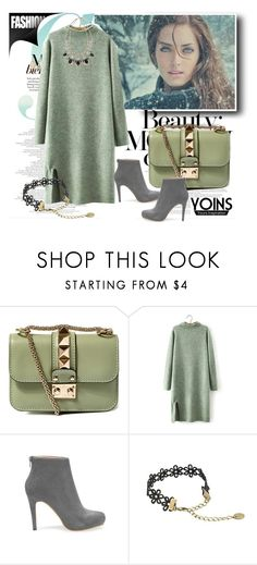 """""""YOINS 4"""" by fashionb-784 ❤ liked on Polyvore featuring Valentino, women's clothing, women's fashion, women, female, woman, misses, juniors, yoins and loveyoins"""
