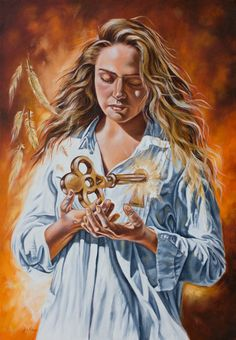 Prophetic oil paintings : The 7 Spirits of God series : The Spirit of Understanding. www.artofkleyn.com