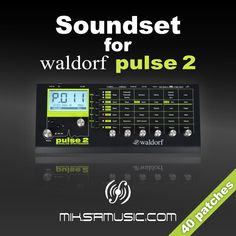 40 high quality patches for Waldorf Pulse 2 analogue synthesiser. This soundset contains massive and powerful sounds for use in any genre of professional electronic music production, like chill, ambient, house, dance, trance and progressive. Every patch has modulation wheel assigned and almost all of them are velocity and/or aftertouch sensitive too. All the presets are programmed by miksa.