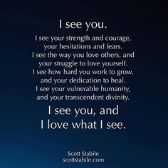 i see you, I feel you.and I love you 😘 Soulmate Love Quotes, Love Quotes For Him, Quotes To Live By, Me Quotes, Qoutes, Soulmate Friends, Sobriety Quotes, Happy Love Quotes, Witty Quotes