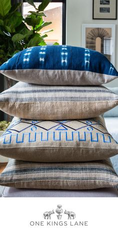 Indigo--that sublime stop between blue and violet. In our opinion it was made for pillows. Whether dip-dyed, embroidered, or swathed in shibori, just a few of these laid-back accents yield an effortless, intriguing look. Perfect your mix with our pillow collection's endless array of sizes, shapes, shades, and patterns--all at One Kings Lane.