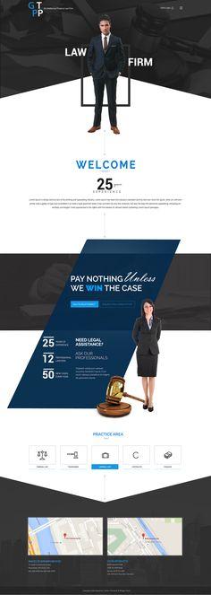Website design for Law Industry(Unique concept)