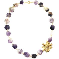 Purple Statement Necklace | Thistle Necklace from Manic Trout Jewelry... ($85) ❤ liked on Polyvore featuring jewelry, necklaces, purple jewellery, purple jewelry, purple necklace, bib statement necklaces and statement necklace