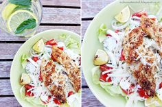 ceasars salad with lime-sesame-chicken ... delicious and healthy salad - summer time - summer salad