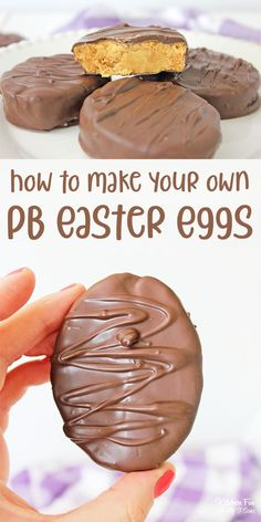 Reese's Peanut Butter Eggs are the Easter dessert you need! If you love chocolate and peanut butter, you can make your own Reese's eggs at home. dessert Reese's Peanut Butter Eggs - No Bake - 6 ingredients Reese Eggs, Reese Peanut Butter Eggs, Homemade Peanut Butter, Easter Peanut Butter Eggs, Chocolate Easter Eggs, Peanut Butter Dessert Recipes, Mini Desserts, Desserts Keto, Sweets