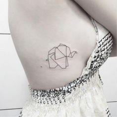Geometric elephant by Milton Reis #elephanttattoo #elephant #geometric #geometry #linework #geometrictattoos Home Tattoo, Tattoo Femeninos, Tattoo Motive, Stitch Tattoo, Elegant Tattoos, Subtle Tattoos, Trendy Tattoos, Mini Tattoos, Elephant Tatoo