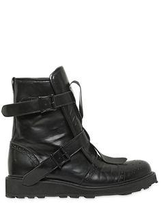 Yohji Yamamoto - Belted calf leather boots