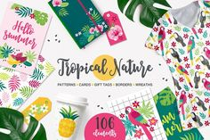 Tropical Nature Kit by miumiu on @creativemarket