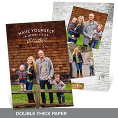 This simple verse lets your favorite photo shine on this holiday card. Printed on double thick paper makes this card super fancy! #holiday #ChristmasCards #PremiumCards