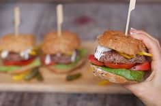 Balsamic Bean Burgers - I love mixing up my meals and adding in as much veggie goodness as I can, and using a mixture of beans to make the patties then piling them high with yummy, seasonal salad fillings is a great way to do it.